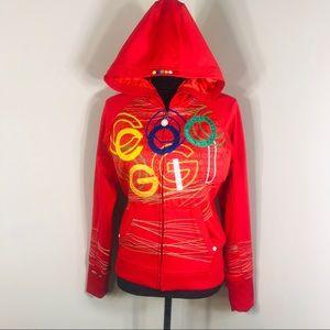 COOGI Women's Logo Print Track jacket Size M